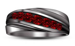 Men's Garnet Wedding Bands