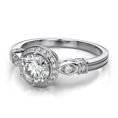 Vintage Halo Engagement Ring Settings