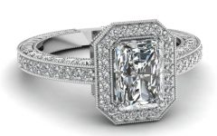 Radiant Cut Engagement Ring Settings