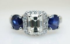 Sapphire Engagement Rings with Wedding Band
