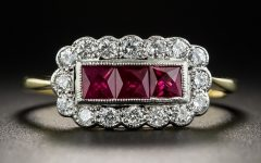 Vintage Style Ruby and Diamond Rings