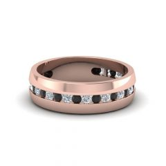 Rose Gold Wedding Bands For Him