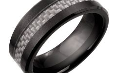 Black And Silver Men's Wedding Bands