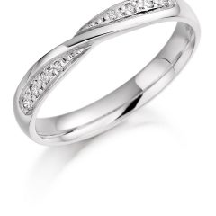 Twisted Diamond Wedding Bands