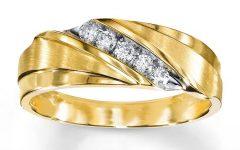 Mens Gold Diamond Wedding Bands