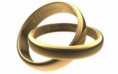 Engravable Wedding Bands