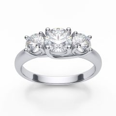 3 Stone Platinum Engagement Rings