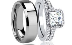 Tungsten Wedding Bands Sets His And Hers