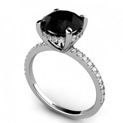 Black Diamond Wedding Rings For Her