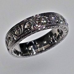 Western Engraved Wedding Rings