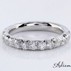 French Pave Wedding Bands