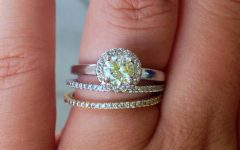 Silver Engagement Rings with Gold Wedding Bands