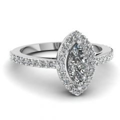 White Gold Marquise Diamond Engagement Rings