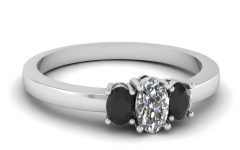 Black Stone Wedding Rings
