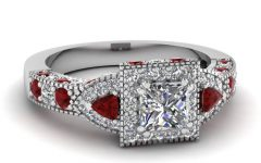 White Gold Ruby Wedding Rings