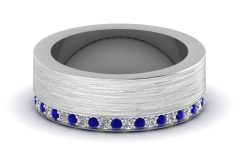 Mens Diamond And Sapphire Wedding Bands