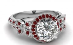 Diamond and Ruby Engagement Rings