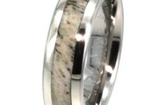 Mens Wedding Bands with Deer Antlers