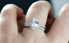 Oval Halo Wedding Ring Sets