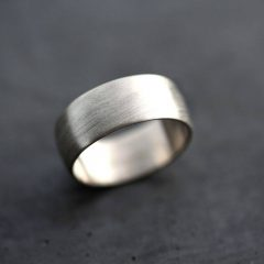 8Mm White Gold Wedding Bands