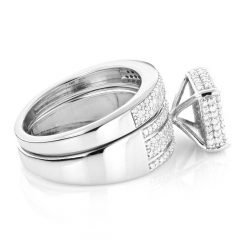Silver Engagement Ring Sets