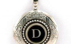 Letter D Alphabet Locket Element Necklaces