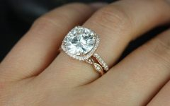 Round Cushion Cut Diamond Engagement Rings